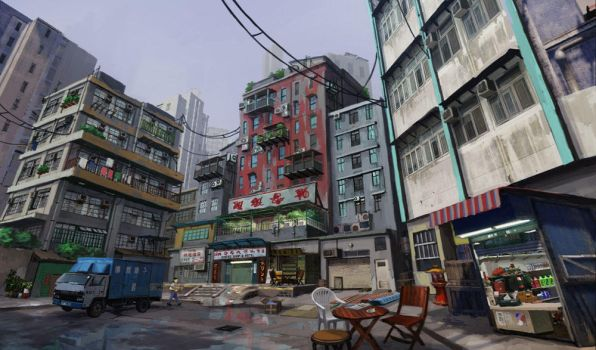 Sleeping Dogs concept - North Point Safehouse by Kuren