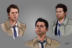 Brush Practice - Castiel Study by TheBeautifulSniper
