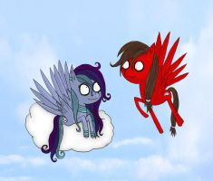 Speedyshy and Red Dash by ScorpionsKissx