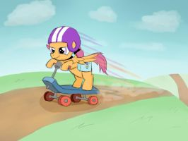 Scootaloo on the Go by WerdKcub