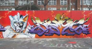 buddz pic of a wall I painted in Ladbroke grove by Brave-one