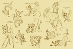 ALL Sora's Animals Form by VanyCat