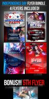 Independence Day Club Flyer Templates by ImperialFlyers