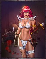 Red Sonja by Paulo colored by SplashColors