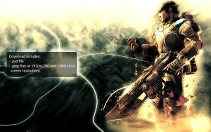 Gears of War 2 Wallpaper by Pokehkins