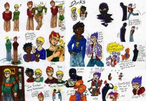 Static Shock Doodles by sanely-insane
