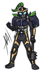 KR Gaim - Blackberry Arms sketch (now colored) by Malunis