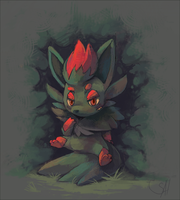 Shadow Zorua by salanchu