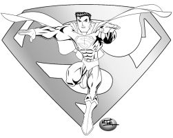 Superman_The_Man_of_Steel_BW by TonyForever