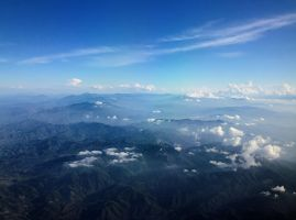 Mexican Mountains From Our Airplane by KMourzenko