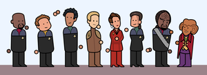 DS9 Cast simplified by Bakenius