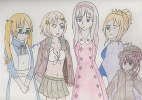 Nyo!APH - Genderbend Allied Forces by SwiftNinja91