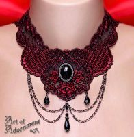Lucrezia's Curse Lace Choker by ArtOfAdornment
