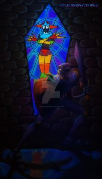 Sir Dan and the Stained Glass Demon by JennissyCooper