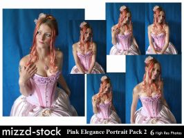 Pink Elegance Portrait Pack 2 by mizzd-stock