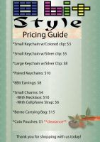 8Bit Style Pricing Flier by cosplay-kitty