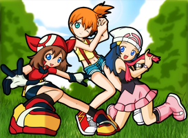 Pokegirls by Tillawel