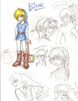Blue Link Sketches by ShadyBlade-TrueWolf