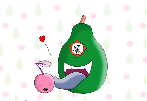 Biting Pear of Salamanca - DL style by coldphoenix1