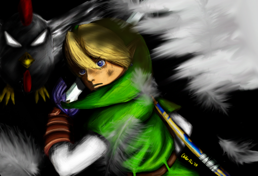 Under Attack - LoZ by Chibi-Rie