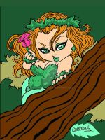 CHIBI POISON IVY COLORED by CHIBIWORLD