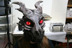 Alduin fursuit mask 1 Details by BlueEyes9