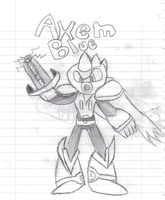 Axem Blue-New Weapons by TheCynicalPoet