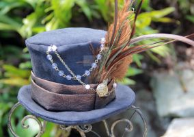 Steam Punk Black Mini Top Hat by spaceraptor