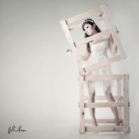 fashion - wooden cage by felixheru