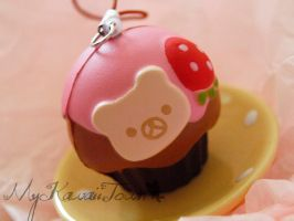 Rilakkuma Strawberry Cupcake by ImSugarRibbon