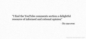 YouTube Comments by deadcal