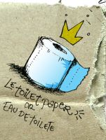 le toilet paper by madewithsadness
