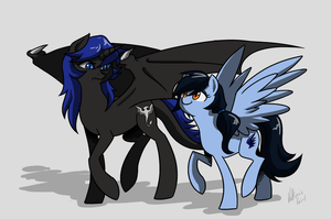Commission - Midnight and Sapphire by Valkyrie-Girl