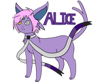 Alice the Espeon by DethSnBGaming