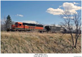 BNSF SD40-2 1677 by hunter1828