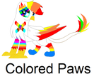Colored Paws is not amused by ColorsthePegasus