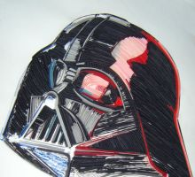 quilling darth vader by kadifecraft