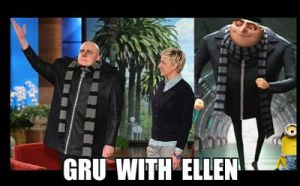 Gru With Ellen by MidnightRavenBlaz17