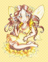 Sunflower Fairy Request by Hellatina