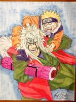 Jiraiya and Naruto by Redz016