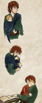 Daddy hiccup - colored by Mikki05