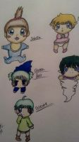 My Ocs as Babies by leafyloo