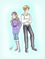K4- Older Anna and Vin Before by MaskedSugarGirl