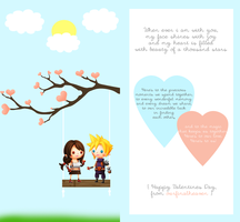 Cloud and Tifa Sitting in a Tree by tinystrawberry
