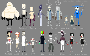 Pixelated Ocs by Caiwin