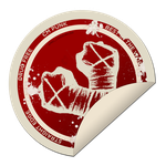 sticker CM PUNK  red by lovelives4ever
