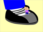 Tiny Eithan on David sneakers by PrinceEithan28