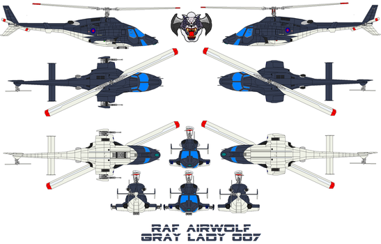 AIRWOLF GRAY LADY RAF by bagera3005