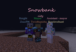 Snowbank city by twixthepichu