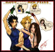 FF7- Thoughts: Happy New Year by Halffull